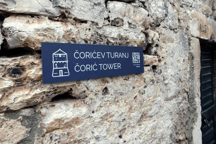 ČORIĆEV TORANJ: Jedina sačuvana od nekadašnje tri obrambene kule u Vodicama