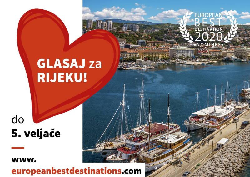 DAJTE SVOJ GLAS ZA RIJEKU: Naš grad u utrci za titulu Najbolje europske destinacije 2020. godine!