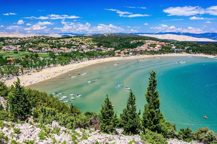 Isola che fa sognare: Rab (Arbe), isola felice /  / Spiaggia del paradiso (Rajska plaža)